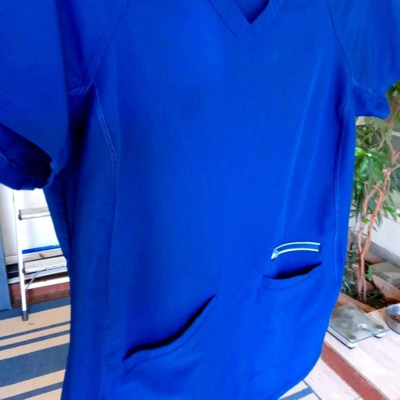 HH 360 scrubs Blue Top S pants XS